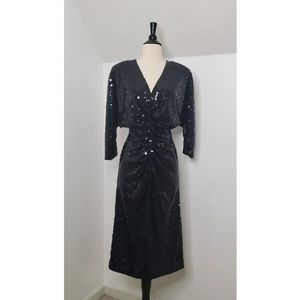 Vintage Oleg Cassini Sequin Cocktail Dress